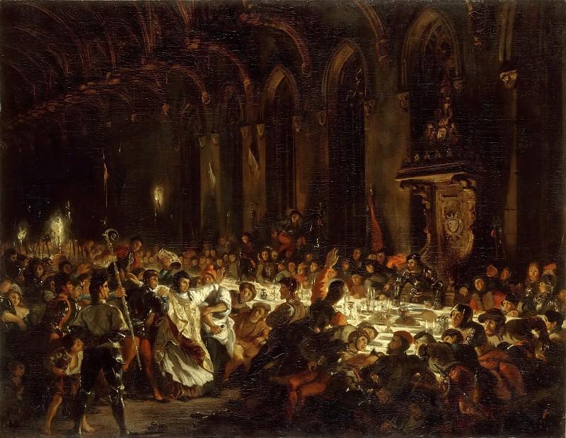 Eugène Delacroix -- The Assassination of the Bishop of Liege. Part 4 Louvre
