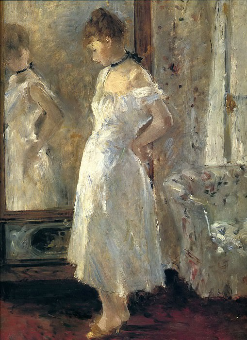 Morisot, Berthe (1841-1895) - The Cheval Glass. National Museum of Women in the Arts