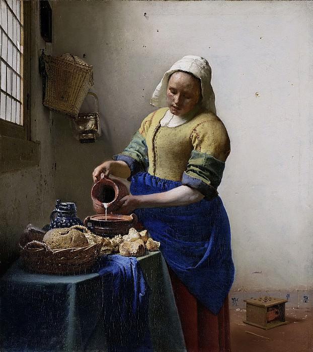 Vermeer, Johannes -- Het melkmeisje, 1660. Rijksmuseum: part 3