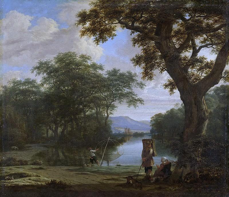 Haagen, Joris van der -- Landschap met visser met kruisnet, 1645-1669. Rijksmuseum: part 3