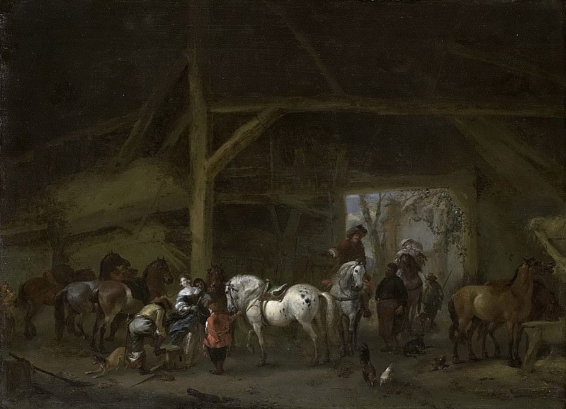Wouwerman, Philips -- Een paardenstal, 1650-1668. Rijksmuseum: part 3
