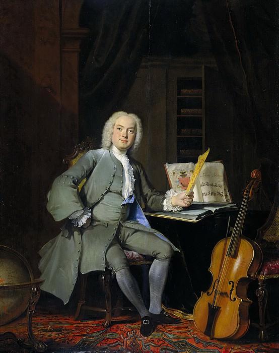 Корнелис Трост -- Портрет одного из членов семейства Ван дер Мерш, 1736. Рейксмузеум: часть 3
