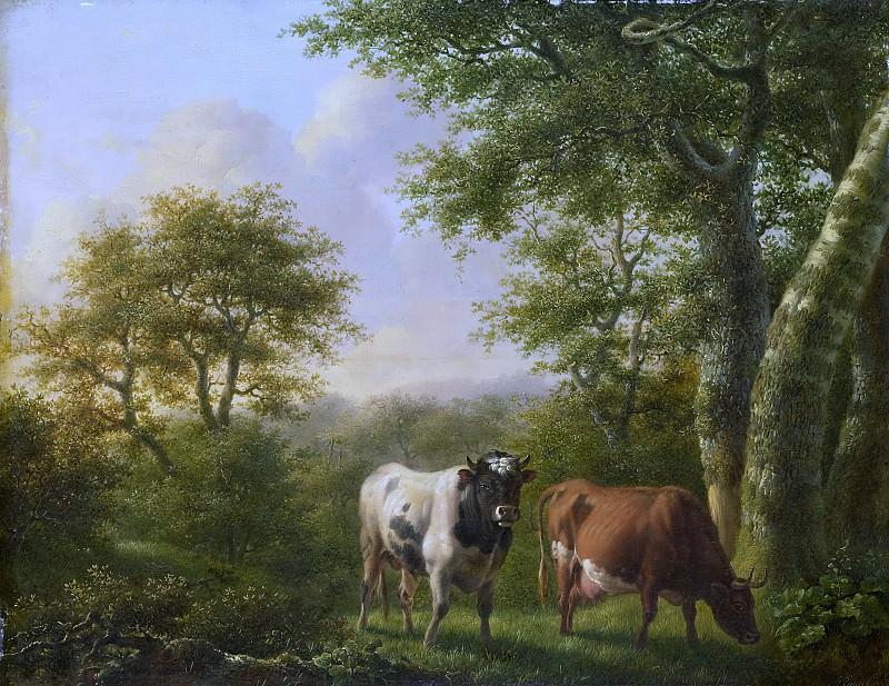 Engel, Adolf Karel Maximiliaan -- Landschap met vee, 1827. Rijksmuseum: part 3