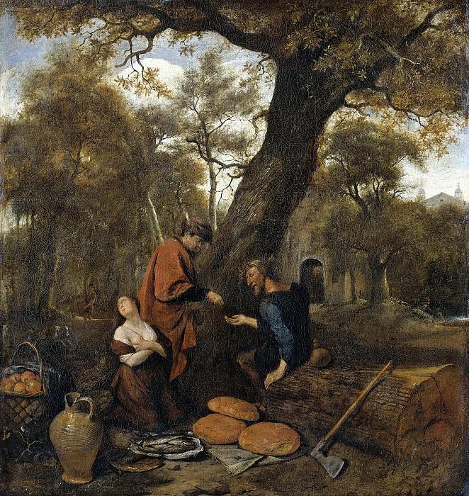 Steen, Jan Havicksz. -- Erysichthon verkoopt zijn dochter Mestra, 1650-1660. Rijksmuseum: part 3