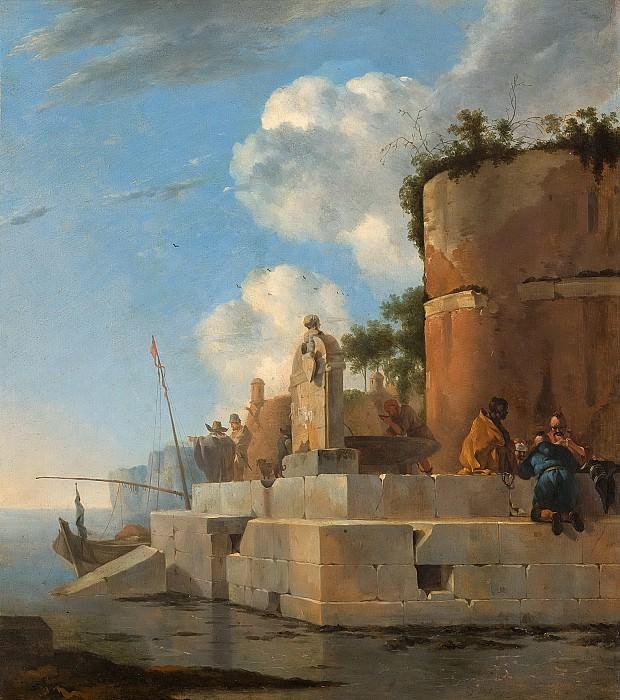 Ян Асселейн -- Руины у воды, Италия, 1640-1652. Рейксмузеум: часть 3