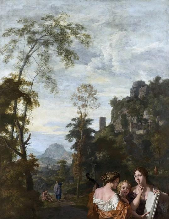 Lairesse, Gerard de -- Italiaans landschap met drie musicerende vrouwen, 1687. Rijksmuseum: part 3