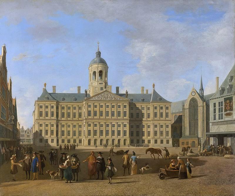 Berckheyde, Gerrit Adriaensz. -- Het stadhuis op de Dam te Amsterdam., 1693. Rijksmuseum: part 3