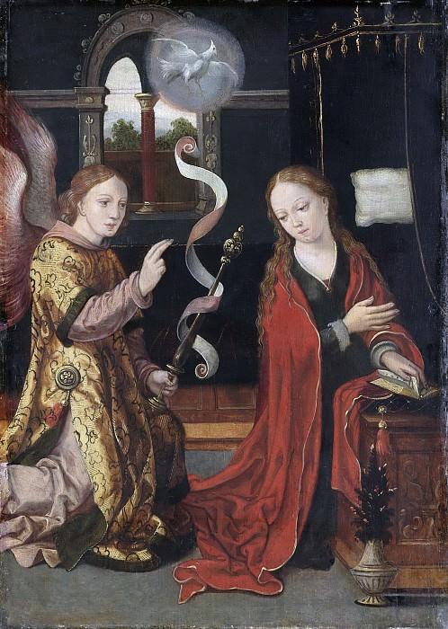 Неизвестный художник -- Благая весть для Марии, 1550. Рейксмузеум: часть 3