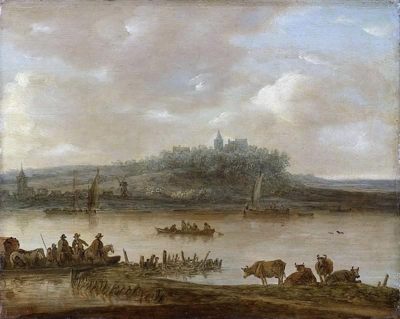 Ян ван Гойен -- Вид на Рейн и Эльтерберг. Рейксмузеум: часть 3