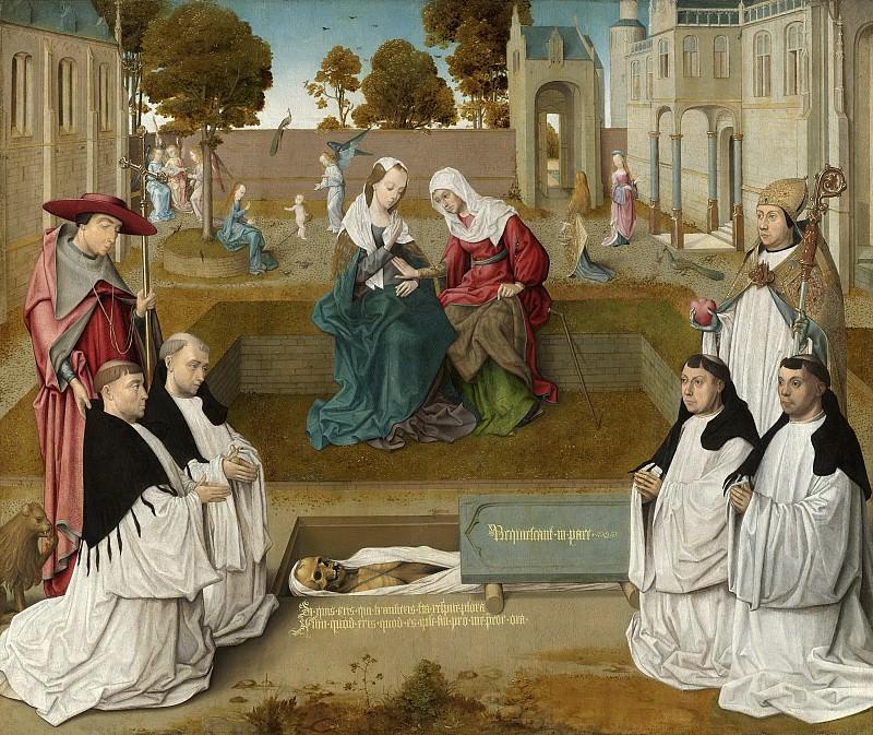 Мастер картины «Надежда наша» -- Четверо каноников со Святыми Августином и Иеронимом, посетившие открытую для них могилу, 1500. Рейксмузеум: часть 3