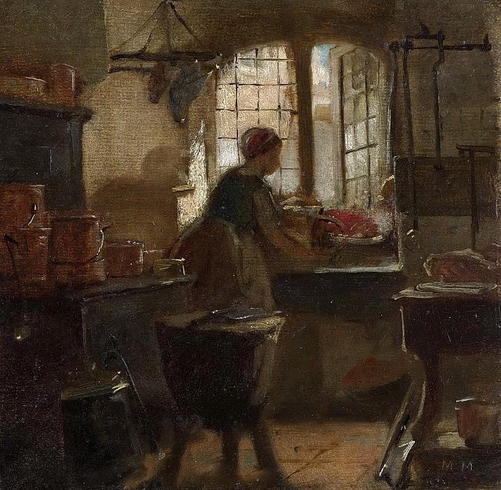 Maris, Matthijs -- Keuken, 1859. Rijksmuseum: part 3