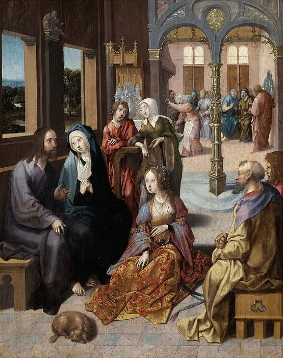 Engebrechtsz., Cornelis -- Het tweede bezoek van Christus aan het huis van Maria en Martha, 1515-1520. Rijksmuseum: part 3