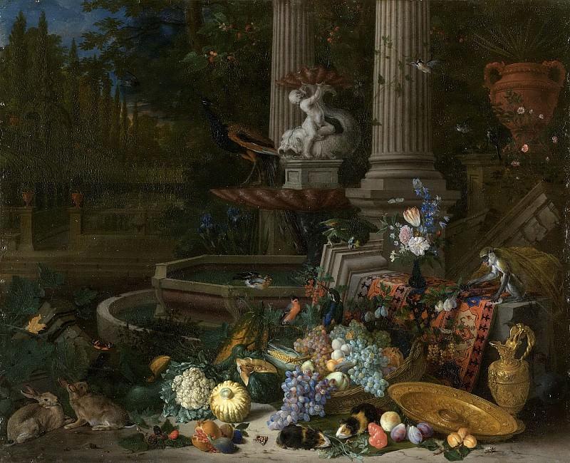 Питер Гейсельс -- Натюрморт у источника, 1680-1691. Рейксмузеум: часть 3