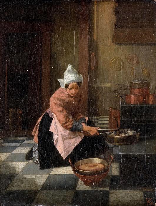Александер Хуго Баккер Корф -- Приготовление вафель, 1850-1882. Рейксмузеум: часть 3