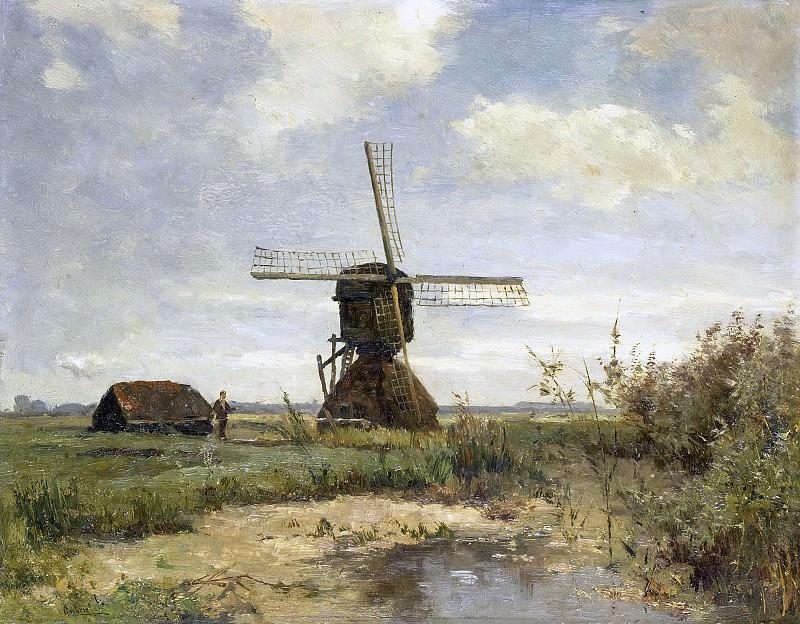 Gabriël, Paul Joseph Constantin -- Zonnige dag', een molen aan een wetering, 1860-1903. Rijksmuseum: part 3