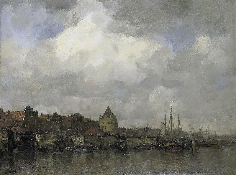 Maris, Jacob -- De Schreierstoren aan de Buitenkant te Amsterdam, 1876. Rijksmuseum: part 3