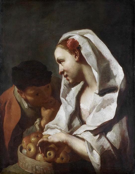 Доменико Маджотто -- Девушка с фруктами, 1745-1770. Рейксмузеум: часть 3