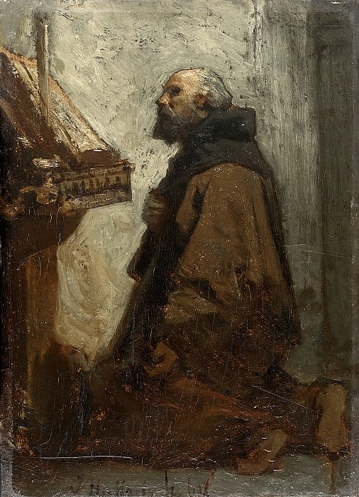 Maris, Jacob -- Biddende monnik, 1864. Rijksmuseum: part 3