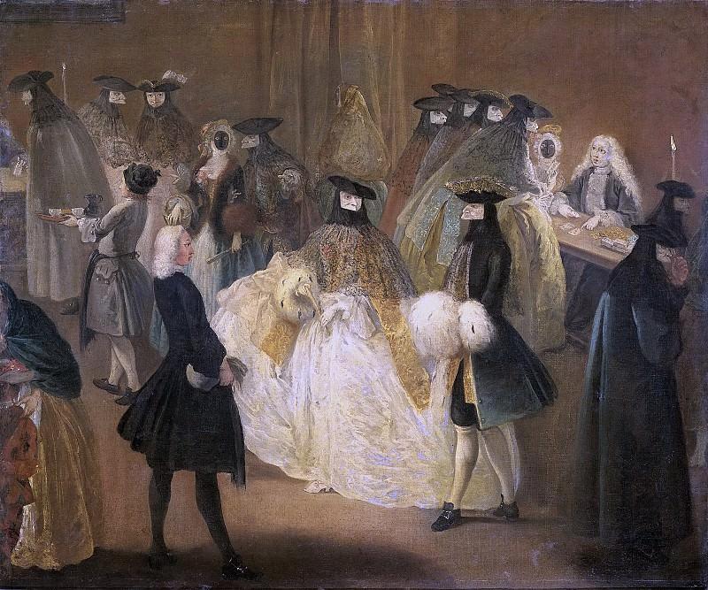 Longhi, Pietro -- De speelbank (Il ridotto), 1720-1790. Rijksmuseum: part 3