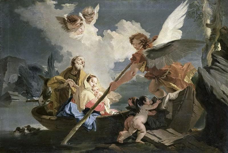 Джованни Баттиста Тьеполо -- Бегство в Египет, 1750-1810. Рейксмузеум: часть 3