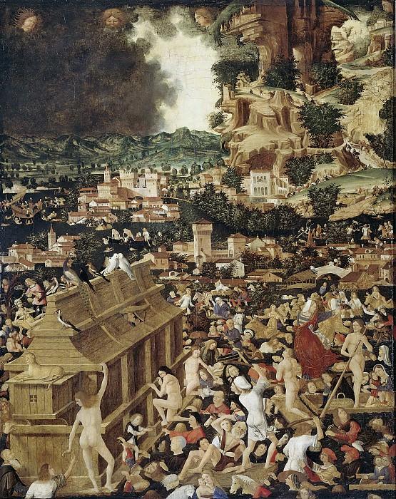 Unknown artist -- De zondvloed, 1450-1499. Rijksmuseum: part 3