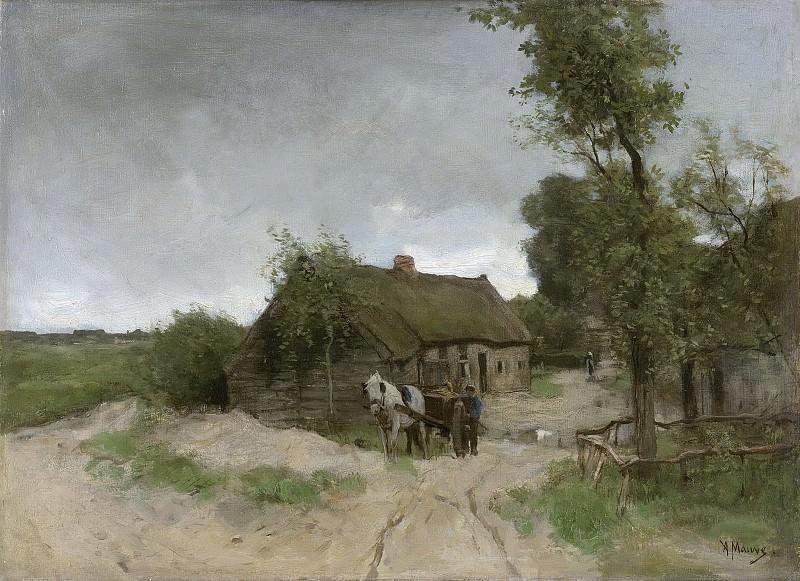 Антон Мауве -- Лачуга у песчаной дороги, 1870-1888. Рейксмузеум: часть 3