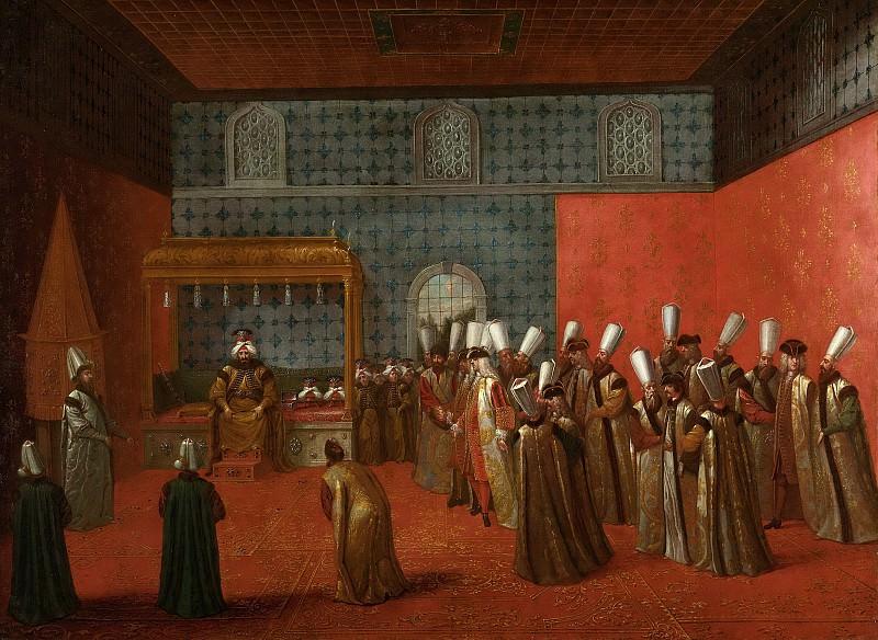 Жан Батист Ванмур -- Посол Корнелис Калкун на аудиенции у султана Ахмеда III 14 сетября 1727 г., 1727-1737. Рейксмузеум: часть 3