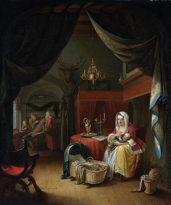 Доу, Герард -- Триптих с аллегорией обучения мастерству, 1770. Рейксмузеум: часть 3