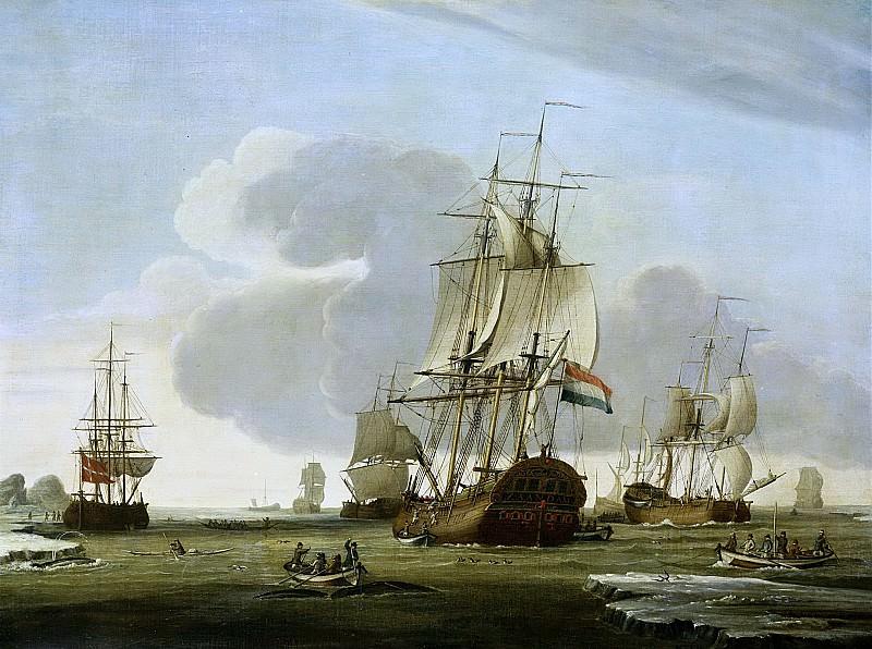 Vries, Jochem de -- De Groenlandvaarder 'Zaandam' van rederij Claes Taan en Zn, Zaandam, op de walvisvangst, 1772. Rijksmuseum: part 3
