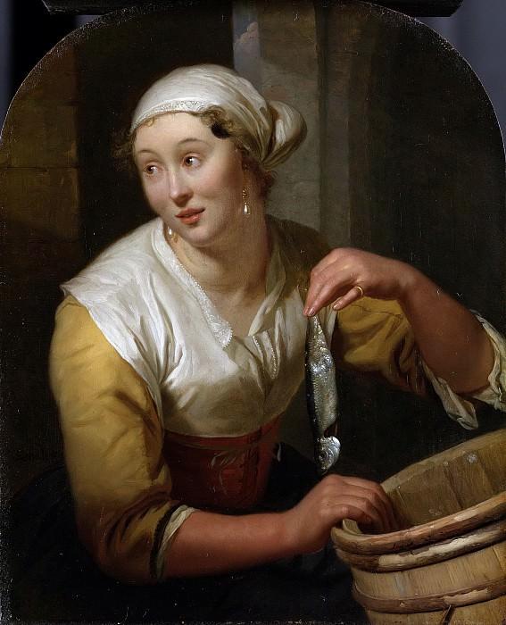 Схалькен, Годфрид -- Продавщица сельди, 1675-1680. Рейксмузеум: часть 3