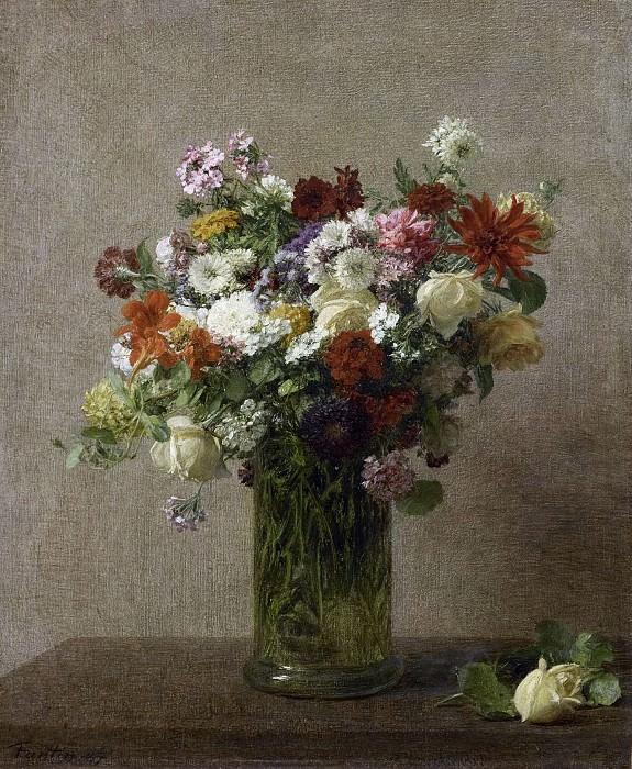 Fantin-Latour, Henri -- Stilleven met bloemen, 1887. Rijksmuseum: part 3