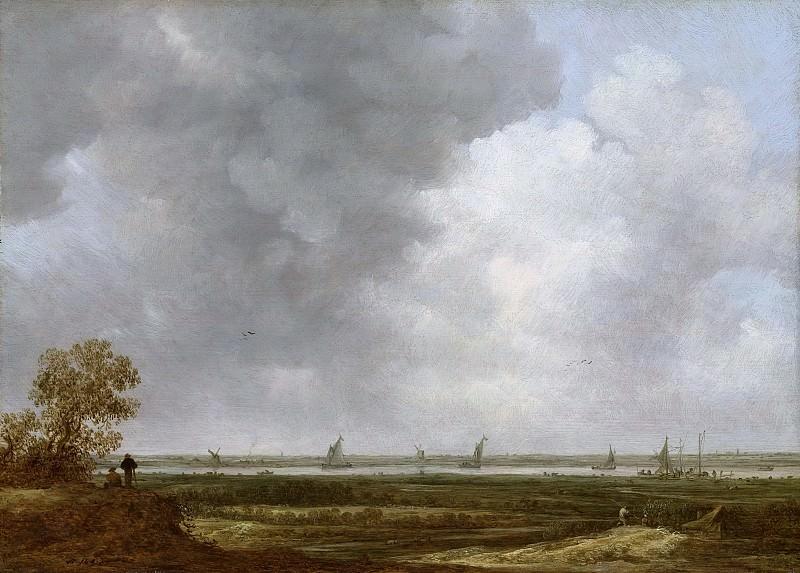Ян ван Гойен -- Панорама бесценных плодов труда людей у реки, 1644. Рейксмузеум: часть 3