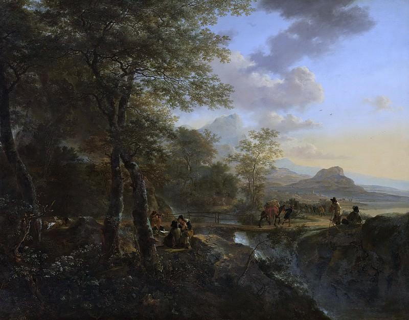 Ян Бот -- Рисовальщик на фоне итальянского пейзажа, 1645-1652. Рейксмузеум: часть 3