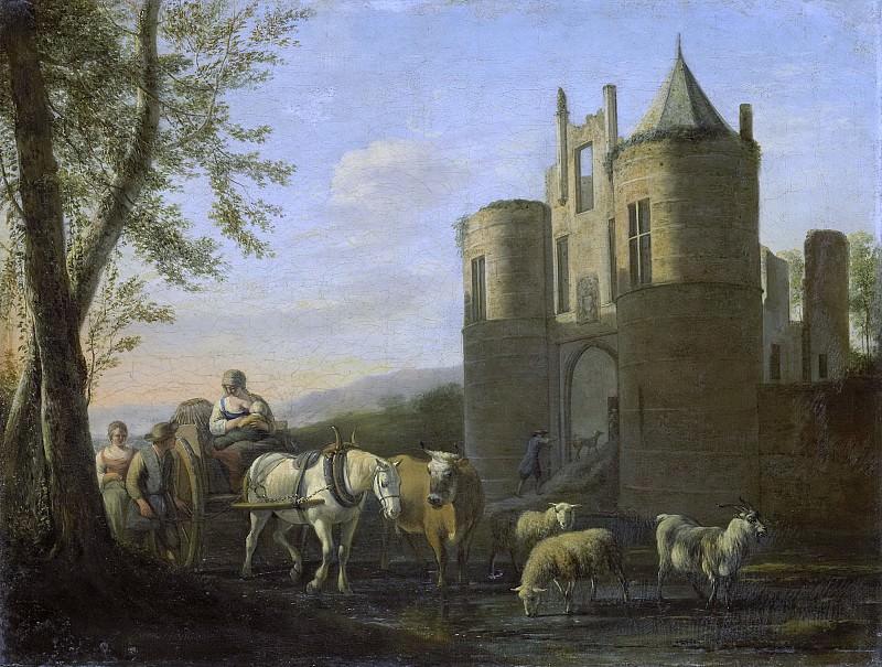 Berckheyde, Gerrit Adriaensz. -- De voorpoort van kasteel Egmond, 1670-1698. Rijksmuseum: part 3