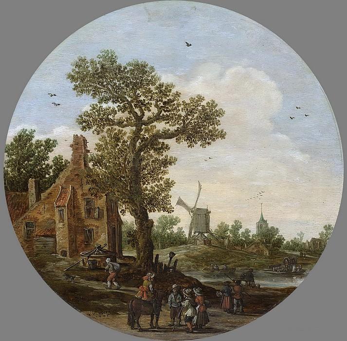Ян ван Гойен -- Лето, 1625. Рейксмузеум: часть 3