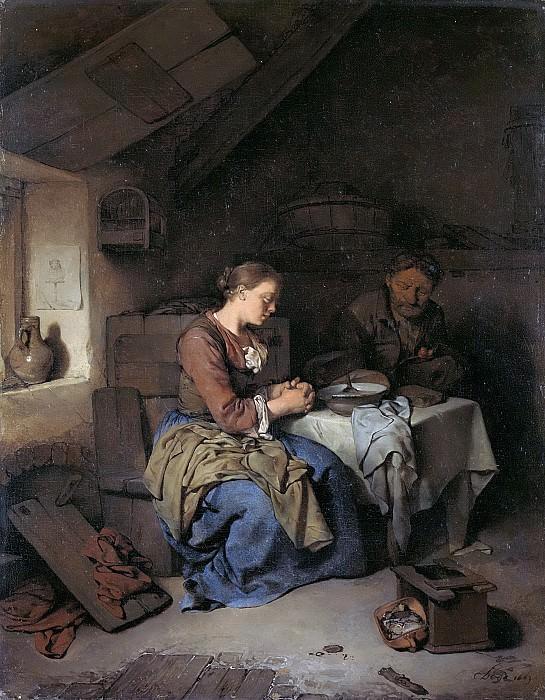 Bega, Cornelis Pietersz. -- Het gebed voor de maaltijd, 1663. Rijksmuseum: part 3