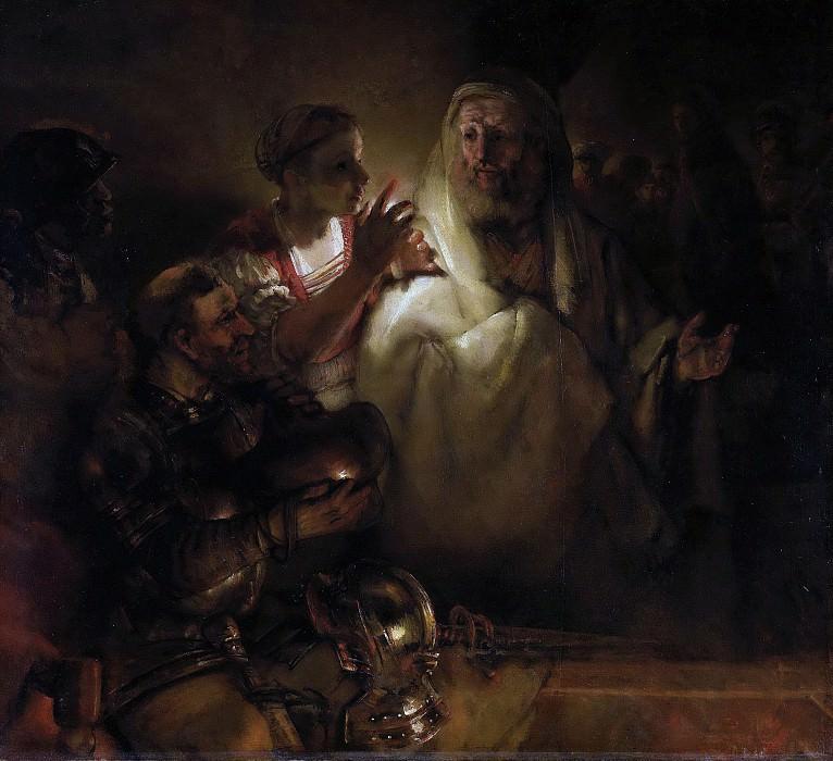 Rembrandt Harmensz. van Rijn -- De verloochening van Petrus, 1660. Rijksmuseum: part 3