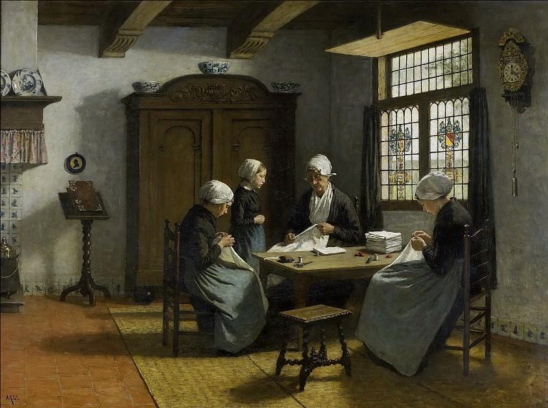 Artz, David Adolph Constant -- In het weeshuis te Katwijk-Binnen, 1870-1890. Rijksmuseum: part 3