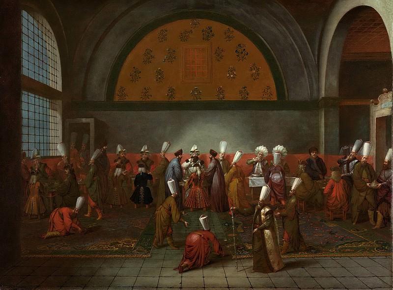 Vanmour, Jean Baptiste -- De maaltijd aangeboden aan ambassadeur Calkoen, 1727-1737. Rijksmuseum: part 3