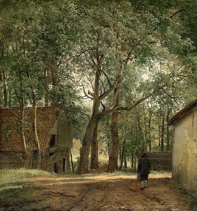 Андреас Шелфхоут -- Крестьянское хозяйство, 1820-1830. Рейксмузеум: часть 3