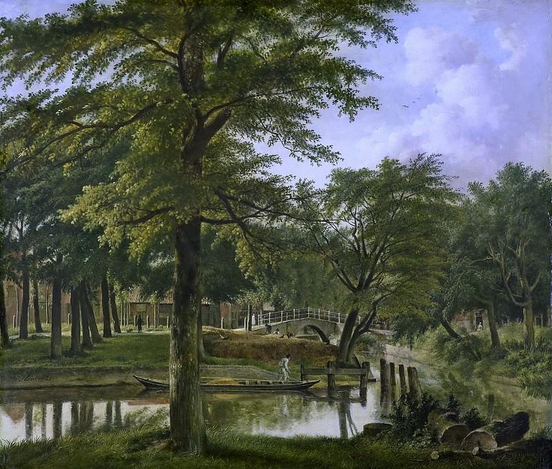 Hendriks, Wybrand -- Gezicht op de Nieuwe Gracht bij het Bolwerk te Haarlem, 1800-1831. Rijksmuseum: part 3