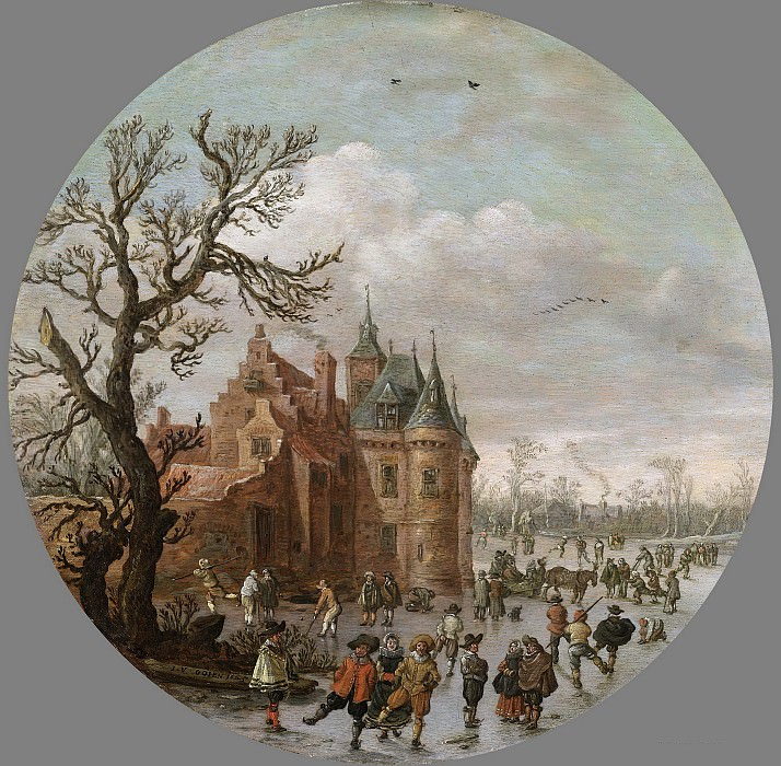 Goyen, Jan van -- Winter, 1625. Rijksmuseum: part 3