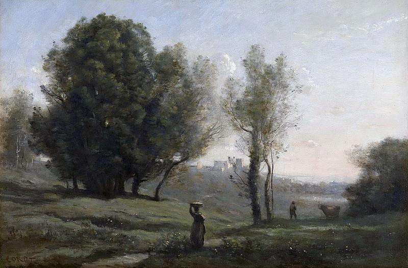 Камиль Коро -- Пейзаж, 1872. Рейксмузеум: часть 3