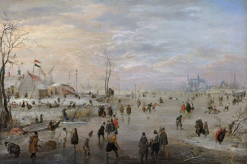 Avercamp, Hendrick -- IJsvermaak, 1615-1620. Rijksmuseum: part 3