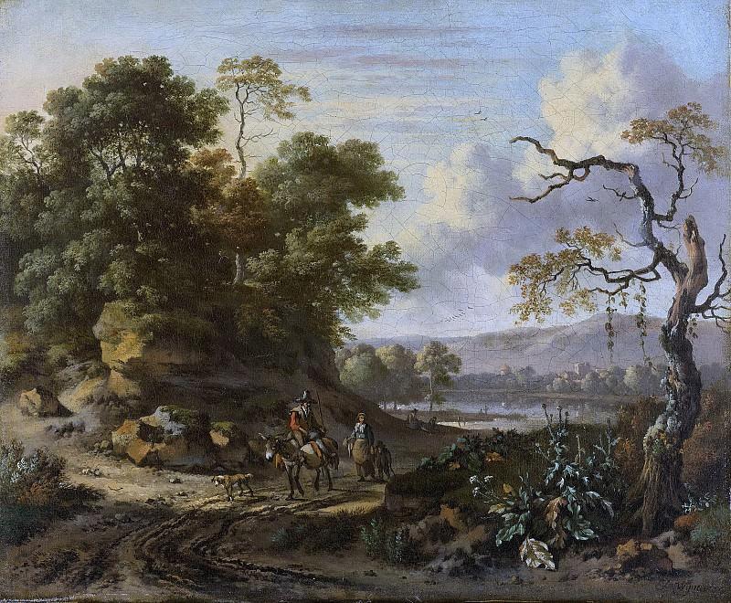 Wijnants, Jan -- Landschap met ezelrijder, 1655-1684. Rijksmuseum: part 3