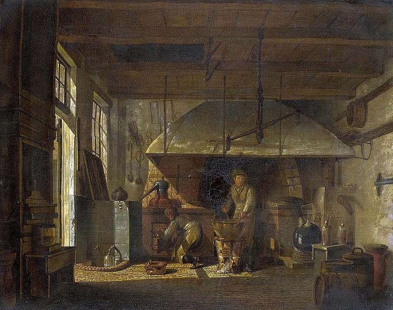 Jelgerhuis, Johannes -- Interieur van het 'Stoockhuys' van apotheker A d'Ailly bij het bolwerk aan de Zaagmolenpoort te Amsterdam, 1818. Rijksmuseum: part 3