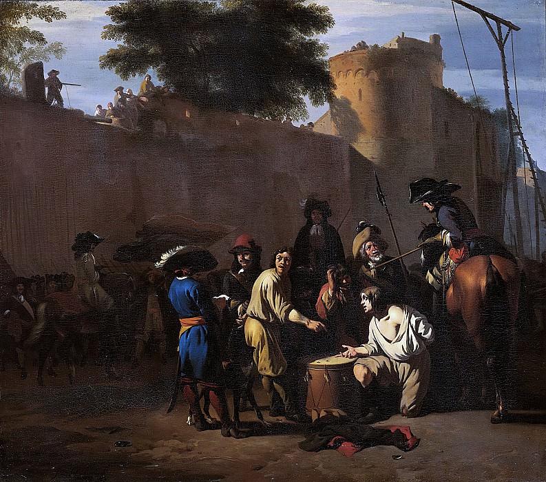 Ян ван Хухтенбург -- Игра в кости на жизнь или смерть, 1680-1720. Рейксмузеум: часть 3