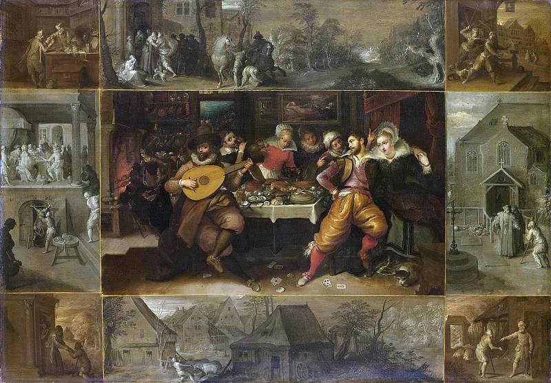 Francken, Frans (II) -- De geschiedenis van de verloren zoon, 1600-1620. Rijksmuseum: part 3