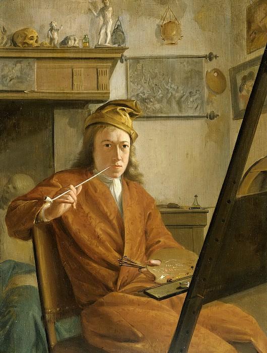 Арт Схоуман -- Портрет художника, возможно, автопортрет, 1730. Рейксмузеум: часть 3
