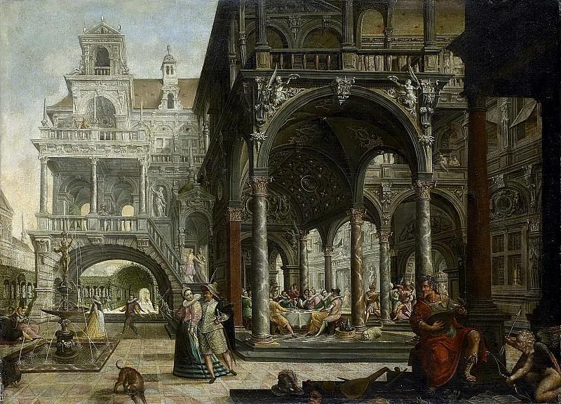 Хендрик Артс -- Воображаемый дворец эпохи Ренессанса, 1602. Рейксмузеум: часть 3